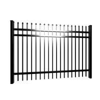 Cheap  Villa  2100x2400mm black tubular fencing galvanized for hot sale
