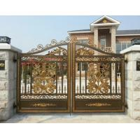 China Villa Electroplated Cast Iron Gates / Courtyard Metal Driveway Gates on sale