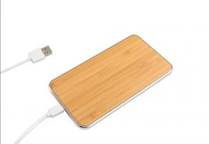 China Universal Wireless Cell Phone Charger , Wood Surface Cordless Charging Station on sale