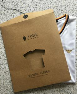 Paper Clothes Packaging Customized Printed T Shirt