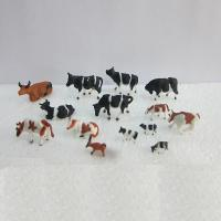 China 1:150 color cattle,model animal,painted cattle,ABS model cows,HO figures,HO animals,color cows,HO animals on sale