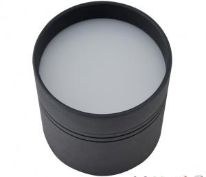China SMD2835 Round Black LED Ceiling Downlights , 18W Surface Mounted LED Downlight on sale