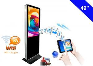 China 4K Resolution WiFi Digital Signage Display , Free Standing Digital Signage LCD on sale