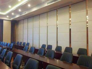 China Restaurant Movable Sound Proof Walls Leather Surface Aluminium Profile Hanging System on sale