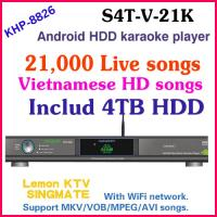 21440 Vietnamese HD songs include 4TB HDD All-in-one Android Lemon karaoke player large capcuity hard drive