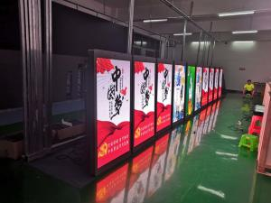 China classic outdoor P5 street led flag display screen terminal for advertising post on sale