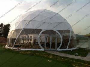 China Large Aluminium Geodesic Dome Tent PVC Professional Easy Transportation Trouble Free on sale
