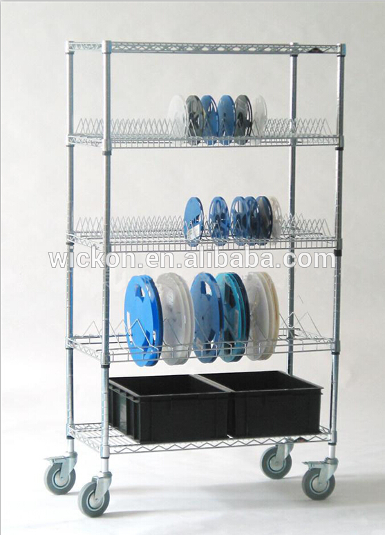 Smt Component Reel Storage Cart Chrome Smt Reel Trolley
