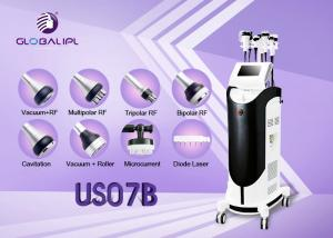 China Body Shaping Ultrasonic Slimming Machine Face Thinner 2 Fat Freeze Handles on sale
