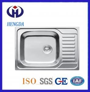 China Fashion Design Single Bowl Stainless Steel Kitchen Sink on sale