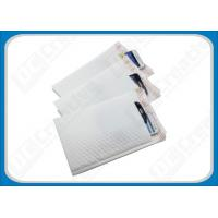 White Smooth LDPE Poly Bubble Envelopes , Flexible Padded Mailing Bags