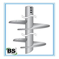 High Load floor slab support system Steel helical anchors with 0.138 - 1 inch Thickness