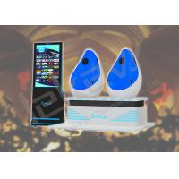 Space Capsule 9D Egg Cinema VR Pod Double Seats With Interactive Hydraulic Platform