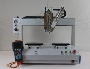China XHL-D661 R 4-AXIS 360 Rotation Glue dispenser machine for 2600ml liquid glue machine on sale