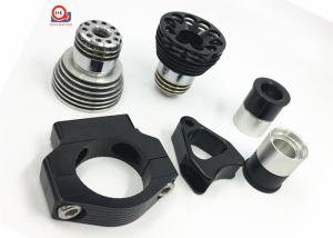China Black Chrome Custom Machined Metal Parts , 7075 Aluminum LED Light Components Parts on sale