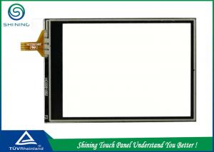 China Transparent Resistive Touch Panel 4 Wire For GPS / Navigation / Rearview Mirror Camera on sale