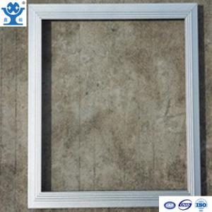 China Silver anodized matt extruded aluminum LED panel frame on sale