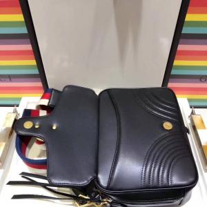 3562c479d69 ... Quality GUCCI MARMONT matelassé small shoulder bag GG handle top  replica for sale