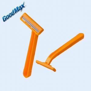Orange Color Twin Blade Disposable Razor Customized Logo With Anti - Drag Blades
