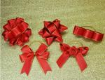 3Inch Personalized Tie satin ribbon bow , Floral , Elastic , twist tie gift bow