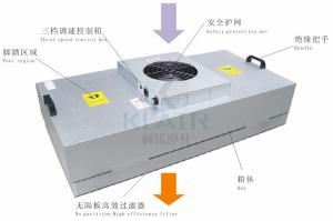 China Zinc Coated Clean Booth / Room Fan Filter Unit Ffu With Three Speed Switch on sale