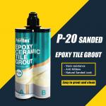 Easy Tiling Epoxy Based Sanded Grout / Epoxy Mortar Grout For Bathroom Tiles