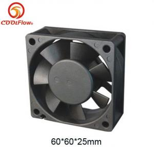 China 110V Plastic AC Axial Cooling fan in Black , 60*60*25mm Vane Axial Fans with 4200RPM Speed on sale