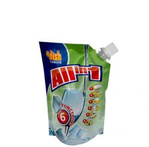 China High Barrier Customized Print Juice/Fruit Dirnk Spout Bag Plastic Stand Up Pouch With Cap For Beverage on sale