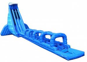 China Single Lane Air  Bouncy Water Slide , Inflatable Lake Slide Slippery Adventurous on sale