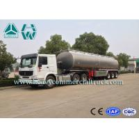 China Anti Explosion Aluminum Fuel Tank Semi Trailer Anti Overflow System 25M3 - 60M3 on sale