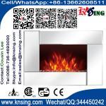 Encienda el calentador interior de piedra moderno eléctrico montado en la pared de madera de sitio del calentador de Chimenea Sentik del espejo de la chimenea EF425S del sentido
