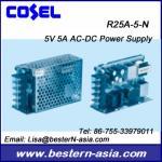Fuente de alimentación de Cosel R25A-5-N 5V 5A AC-DC