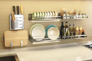 China Rust - Resistant Steel Rack For Kitchen , Stable Metal Kitchen Rack Shelves on sale