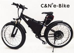 China Brushless Hub Motor Electric Fat Tire Sand Bike With Self Charging Lithium Ion Battery on sale