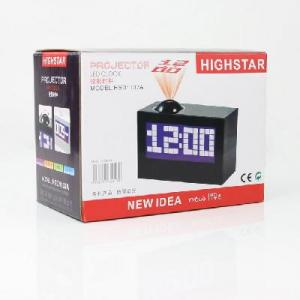China New Digital LED Projector Alarm Clock Black Rotate 180 on sale