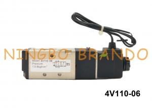 China 1/8 NPT 4V110-06 AIRTAC Type Pneumatic Solenoid Air Valve 2 Position 5 Way DC24V AC220V on sale