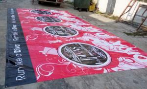 China large format outdoor advertising pvc / vinyl  banners printing on sale