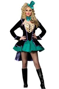 China Alice in Wonderland Costumes wholesale Delightful Mad Hatter Womens Costume on sale