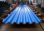 Blue Powder Coated Corrugated Steel Roofing Sheets Used For Roofing Wall