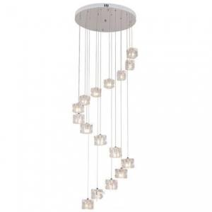 China Square LED Crystal Pendant Lighting Fixture 100cm Dimensions Hanging Type on sale