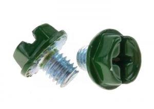 China M6 Painted Hex Washer Serrated Head Machine Screw Steel Phillips Slot Combination on sale