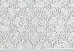 Polyester Floral Lace Fabric Embroidery Water Soluble Lace For Bridal Dress