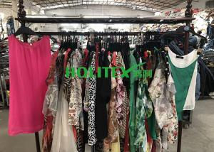 China Used Summer Clothes Silk Blouse , Second Hand Branded Clothes For Cambodia on sale