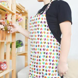 China Custom Printed Cotton Kitchen Apron Canvas Fabric Uniform No Sleeve on sale