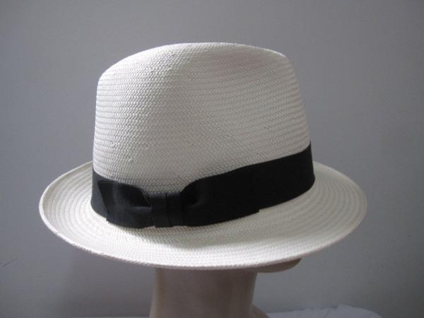 2d694fd2d8788 White Soft Handweaving Japanese Paper Mens Straw Fedora Hat ...