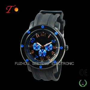 China Better quality  cool big face and color customized dial silicone watches men for sport supplier