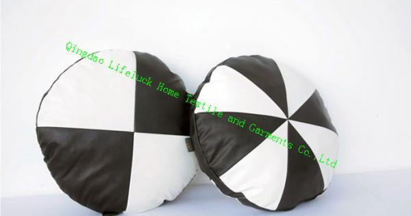 Fine Pu Round Decorative Bolster Pillows Black And White Sofa Creativecarmelina Interior Chair Design Creativecarmelinacom