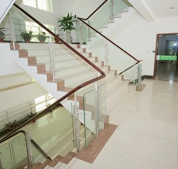 8mm Flat Stair Tempered Glass Panels Coloured , Solid Safety Glass Stair  Panels