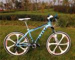 Godd quality OEM special 6 spoke one wheel Shimano 21 speed light 6061 aluminium mountain bicycle for travel