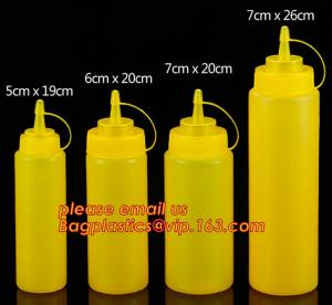 China FDA Food Grade 8oz Empty Custom LDPE Plastic Ketchup Squeeze Bottle with Scale for Syrup, Sauce, Ketchup, BBQ Sauce, Con supplier